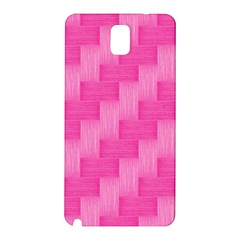 Pink Pattern Samsung Galaxy Note 3 N9005 Hardshell Back Case by Valentinaart