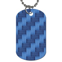 Blue Pattern Dog Tag (one Side) by Valentinaart