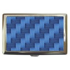 Blue Pattern Cigarette Money Cases by Valentinaart