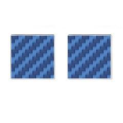 Blue Pattern Cufflinks (square) by Valentinaart