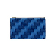 Blue Pattern Cosmetic Bag (small)  by Valentinaart