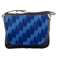 Blue Pattern Messenger Bags by Valentinaart