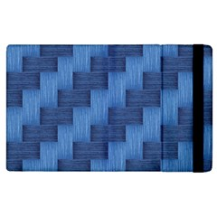 Blue Pattern Apple Ipad 2 Flip Case by Valentinaart