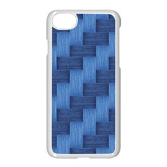 Blue Pattern Apple Iphone 7 Seamless Case (white) by Valentinaart