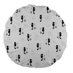 Pattern Large 18  Premium Flano Round Cushions by Valentinaart