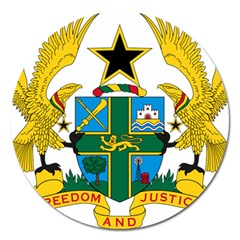 Coat Of Arms Of Ghana Magnet 5  (round) by abbeyz71