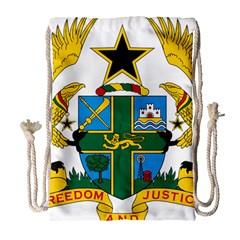 Coat of Arms of Ghana Drawstring Bag (Large)