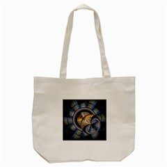 Fractal Tech Disc Background Tote Bag (cream) by Simbadda