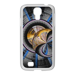 Fractal Tech Disc Background Samsung Galaxy S4 I9500/ I9505 Case (white) by Simbadda