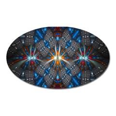 Fancy Fractal Pattern Oval Magnet by Simbadda