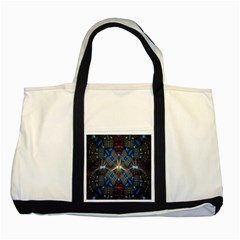 Fancy Fractal Pattern Two Tone Tote Bag by Simbadda
