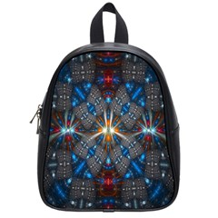Fancy Fractal Pattern School Bags (small)  by Simbadda