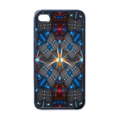 Fancy Fractal Pattern Apple Iphone 4 Case (black) by Simbadda