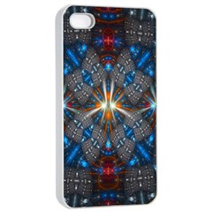 Fancy Fractal Pattern Apple Iphone 4/4s Seamless Case (white) by Simbadda