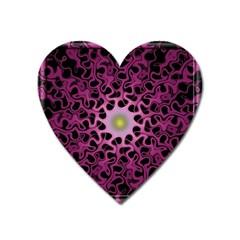 Cool Fractal Heart Magnet by Simbadda