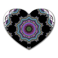 Fractal Lace Heart Mousepads by Simbadda