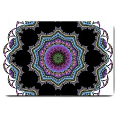 Fractal Lace Large Doormat  by Simbadda