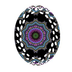Fractal Lace Oval Filigree Ornament (two Sides) by Simbadda