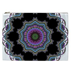 Fractal Lace Cosmetic Bag (xxl)  by Simbadda