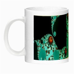 Decorative Fractal Background Night Luminous Mugs by Simbadda