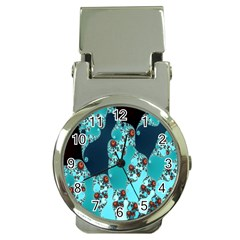 Decorative Fractal Background Money Clip Watches by Simbadda