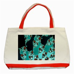 Decorative Fractal Background Classic Tote Bag (red) by Simbadda
