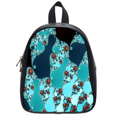 Decorative Fractal Background School Bags (small)  by Simbadda