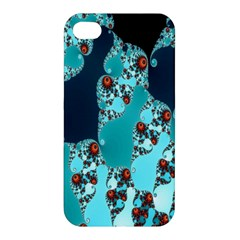 Decorative Fractal Background Apple Iphone 4/4s Premium Hardshell Case by Simbadda