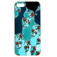 Decorative Fractal Background Apple Iphone 5 Hardshell Case With Stand by Simbadda