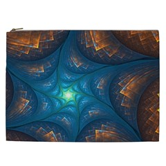 Fractal Star Cosmetic Bag (xxl)  by Simbadda