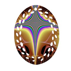 Symmetric Fractal Oval Filigree Ornament (two Sides) by Simbadda