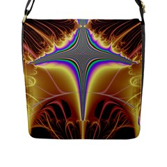 Symmetric Fractal Flap Messenger Bag (l)  by Simbadda