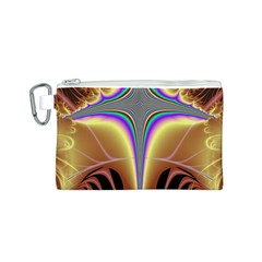 Symmetric Fractal Canvas Cosmetic Bag (s) by Simbadda
