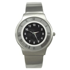 Distorted Net Pattern Stainless Steel Watch by Simbadda