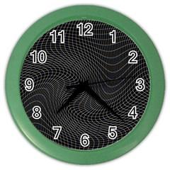Distorted Net Pattern Color Wall Clocks by Simbadda