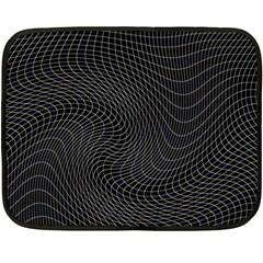 Distorted Net Pattern Double Sided Fleece Blanket (mini)  by Simbadda