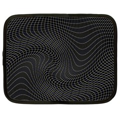 Distorted Net Pattern Netbook Case (xxl)  by Simbadda