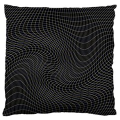 Distorted Net Pattern Large Cushion Case (two Sides) by Simbadda
