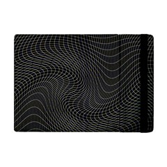 Distorted Net Pattern Apple Ipad Mini Flip Case by Simbadda