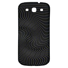 Distorted Net Pattern Samsung Galaxy S3 S Iii Classic Hardshell Back Case by Simbadda