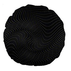 Distorted Net Pattern Large 18  Premium Round Cushions by Simbadda