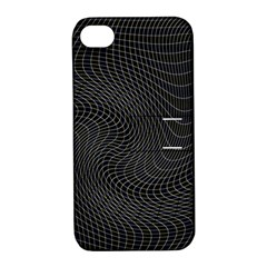 Distorted Net Pattern Apple Iphone 4/4s Hardshell Case With Stand by Simbadda