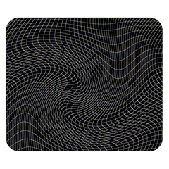 Distorted Net Pattern Double Sided Flano Blanket (small)  by Simbadda
