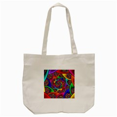 Color Spiral Tote Bag (cream) by Simbadda