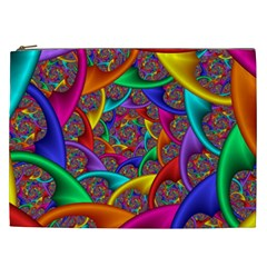 Color Spiral Cosmetic Bag (xxl)  by Simbadda