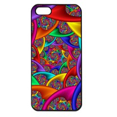 Color Spiral Apple Iphone 5 Seamless Case (black) by Simbadda