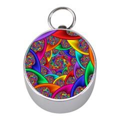 Color Spiral Mini Silver Compasses by Simbadda