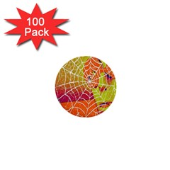 Orange Guy Spider Web 1  Mini Buttons (100 Pack)  by Simbadda