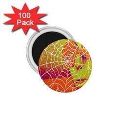 Orange Guy Spider Web 1 75  Magnets (100 Pack)  by Simbadda