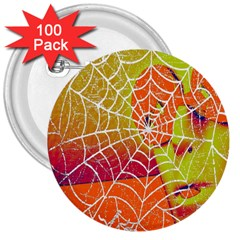 Orange Guy Spider Web 3  Buttons (100 Pack)  by Simbadda